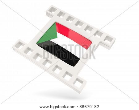 Movie Icon With Flag Of Sudan