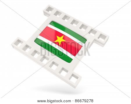 Movie Icon With Flag Of Suriname