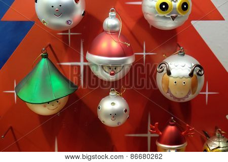HALLEIN, AUSTRIA - DECEMBER 13: Christmas decoration shop on December 13, 2014 in Hallein, Austria.