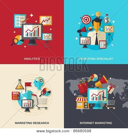 Marketing Flat Icons