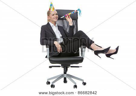 businesswoman having fun