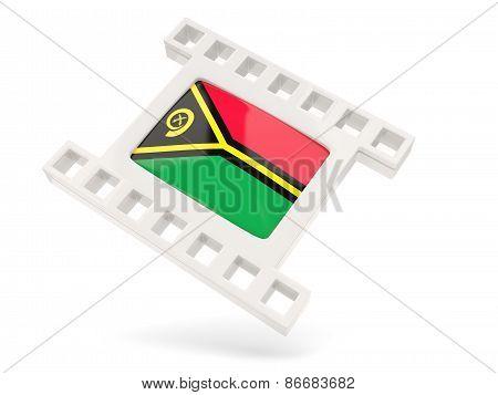 Movie Icon With Flag Of Vanuatu