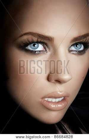 Woman With Dramatic Makeup