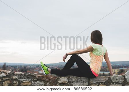Runner resting after exercise