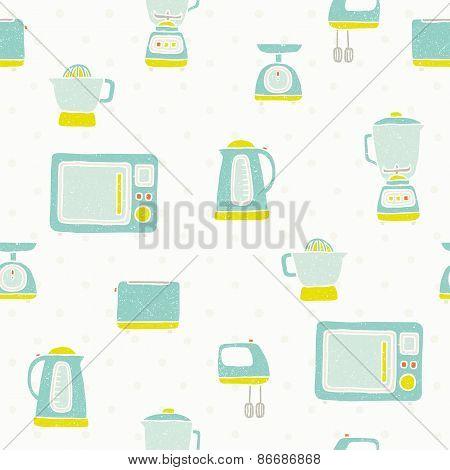 Kitchen appliances pattern