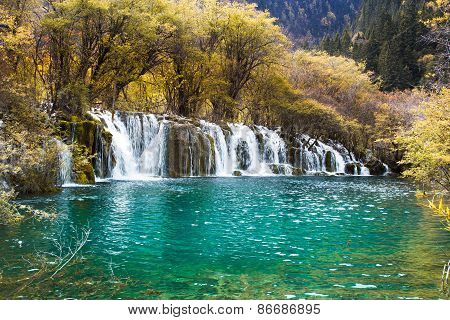 Arrow Bamboo Waterfall Jiuzhaigou Scenic
