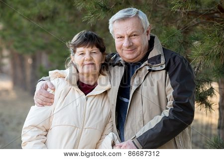 Portrait Of Elder Couple