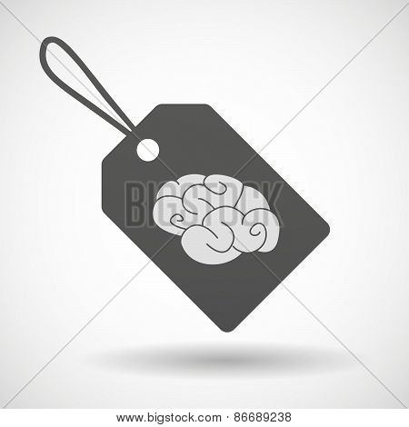 Shopping Label Icon With A Brain