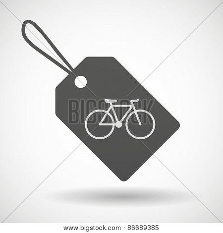 Shopping Label Icon With A Bicycle