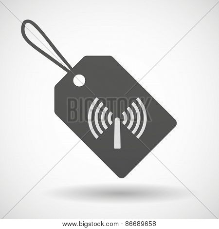 Shopping Label Icon With An Antenna