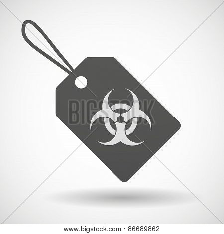 Shopping Label Icon With A Biohazard Sign