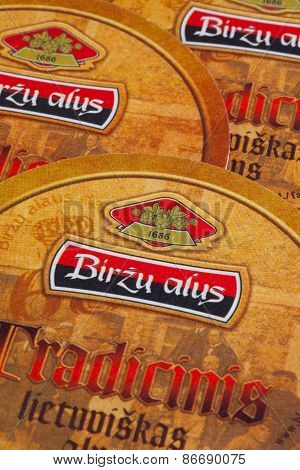 Beermats From Birzu Alus Beer.