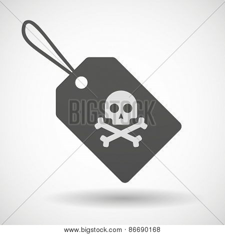 Shopping Label Icon With A Skull