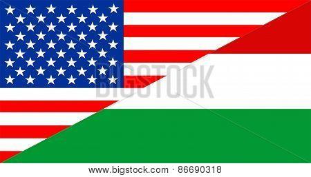Usa Hungary Flag