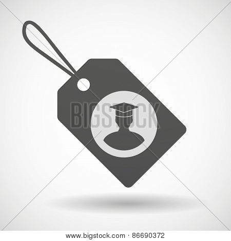 Shopping Label Icon With A Student