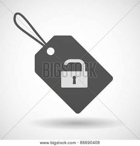 Shopping Label Icon With A Lock Pad