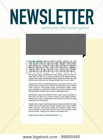 Newsletter Page Layout