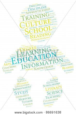 Baby Shaped Education Word Cloud