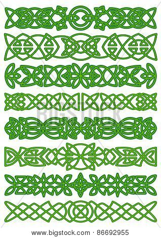Floral celtic borders with traditional ornament
