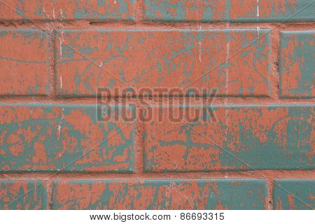 Background Of Colorful Brick Wall Texture
