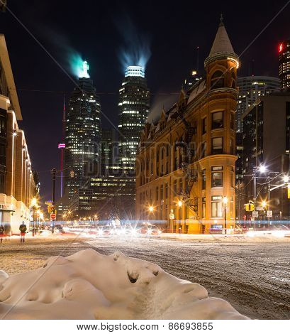 Part Of Downtown Toronto In The Winter