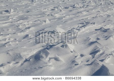 Snow Background With Bumps