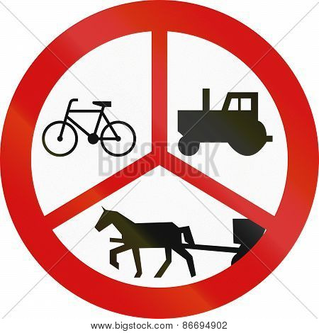 No Tractors, Bicycles Or Carriages In Poland