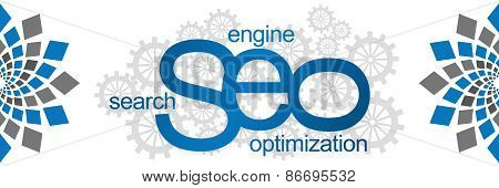 Seo With Gears Abstract Element
