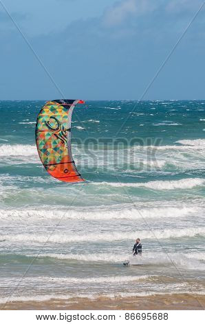 Windsurfer At Klein Brakrivier