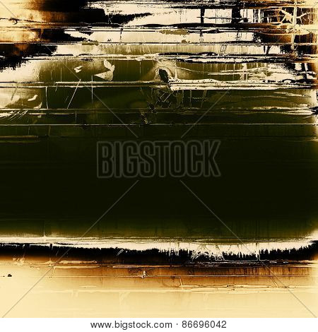 Grunge aging texture, art background. With different color patterns: yellow (beige); brown; green; black