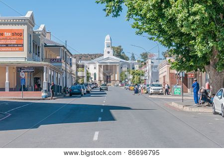 Early Morning Street Scene In Colesberg, South Africa