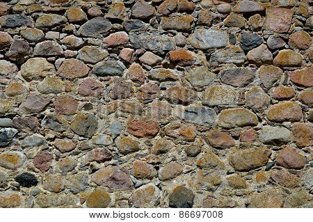 Stone wall of the old castle