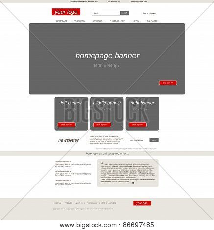 Website Eshop Template With Business Style