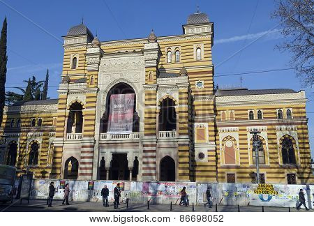 Tbilisi,GE-Feb,25 2015:The building of the Opera and Ballet Theater in the Moorish style in Tbilisi