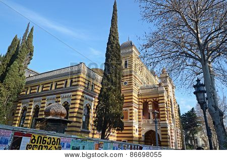 Tbilisi ,GE-Feb,25 2015:The building of the Opera and Ballet Theater in the Moorish style in Tbilisi