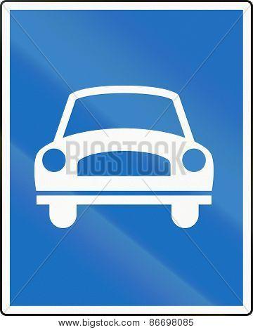 Fast Traffic Highway In Austria