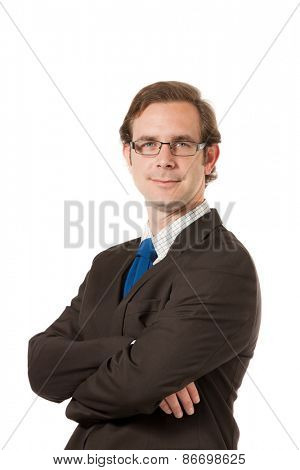 portrait of a businessman, isolated over white background