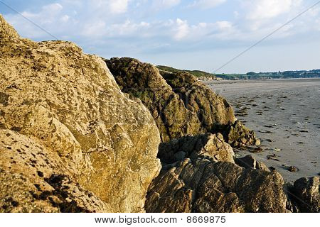 Rock Formation On The Beach