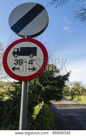 Roadsign for HGV