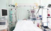 pic of ward  - Patient in ward of intensive care unit - JPG