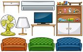 image of household  - Different kind of household appliances - JPG