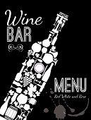 pic of sparkling wine  - Wine menu card - JPG