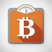 pic of bit coin  - Illustration of a weight scale with a bit coin sign - JPG