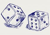 stock photo of dice  - Two dices - JPG
