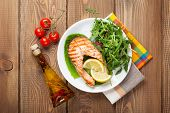 image of condiment  - Grilled salmon - JPG