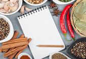 stock photo of ingredient  - Colorful herbs and spices selection - JPG