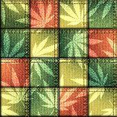 foto of rastafari  - Seamless background pattern - JPG