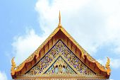 picture of gable-roof  - gable apex of the church in bangkok thailand - JPG