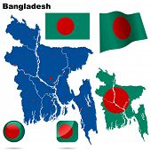 stock photo of bangladesh  - Bangladesh set - JPG