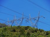 picture of mast  - Electricity masts in the snowy mountains in Australia - JPG